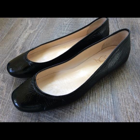 ff2572f7e77 Christian Louboutin Shoes - CHRISTIAN LOUBOUTIN Black Patent Leather Flats
